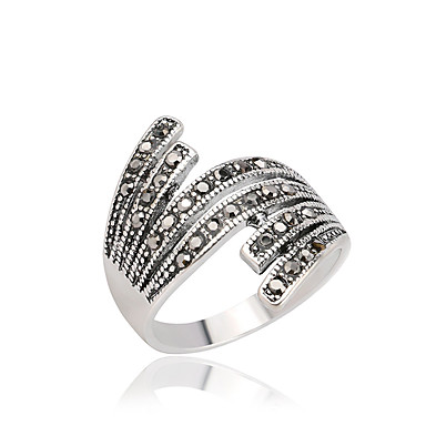 خواتم بيان خاتم موضة شخصية euramerican في بيان المجوهرات حجر الراين أجنحة أسود مجوهرات إلى عيد ميلاد يوميا فضفاض 1PC