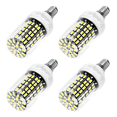 6W E14 LED Mısır Işıklar T 108 led SMD 5733 Serin Beyaz 550lm 6000K AC 220-240V
