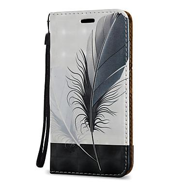Kılıf Na Samsung Galaxy J7 (2016) J5 (2016) Etui na karty Z podpórką Flip Magnetyczne Wzór Pełne etui Pióra Twarde Skóra PU na J7 (2016)