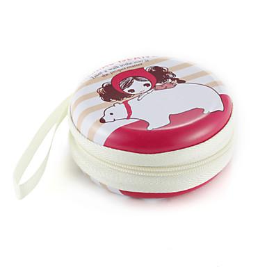 Fidget hand spinner palec torba mała dziewczynka wzór metalowe słuchawki universal przypadku