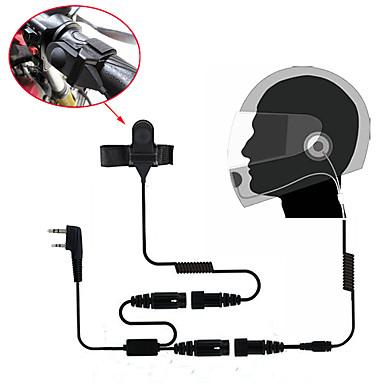 Iki yönlü telsiz telsiz 365 baofeng kenwood wanhua için motosiklet tam yüz kask kulaklık kulaklık