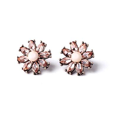 Kadın's Vidali Küpeler Kristal Moda Kişiselleştirilmiş Euramerican Çiçekli Mücevher Uyumluluk Düğün Parti Doğumgünü