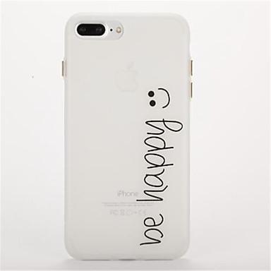 Pouzdro Uyumluluk Apple Karanlıkta Parlayan Buzlu Süslü Arka Kılıf Kelime / Cümle Yumuşak TPU için iPhone 7 Plus iPhone 7 iPhone 6s Plus