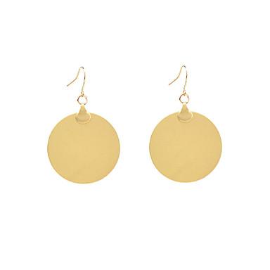 θαυμαστής σκουλαρίκια Κοσμήματα Κράμα Γεωμετρικό Μοντέρνα Euramerican μινιμαλιστικό στυλ Circle Shape Χρυσό Κοσμήματα Καθημερινά Causal1