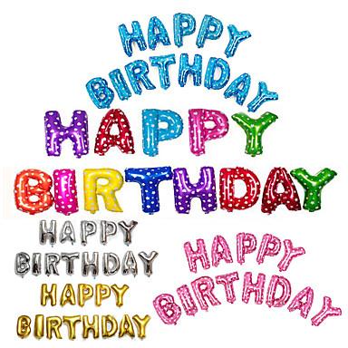 ieftine Decorațiuni de Casă-13pcs / set 16inch fericit ziua de naștere alfabet scrisoare baloane foaie multi baloane foaie de culoare