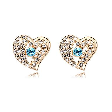 Damskie Kolczyki na sztyft Kryształ Miłość Serce Osobiste euroamerykańskiej Biżuteria Na Ślub Impreza Urodziny