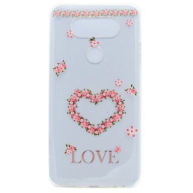 Için Şeffaf Temalı Pouzdro Arka Kılıf Pouzdro Çiçek Kalp Yumuşak TPU için LG LG K10 LG K8 LG K7 LG G6 LG Nexus 5X LG V20 LG X Power