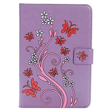 Varten Korttikotelo Tuella Koristeltu Etui Kokonaan peittävä Etui Perhonen Kova Tekonahka varten Apple iPad Mini 4 iPad Mini 3/2/1