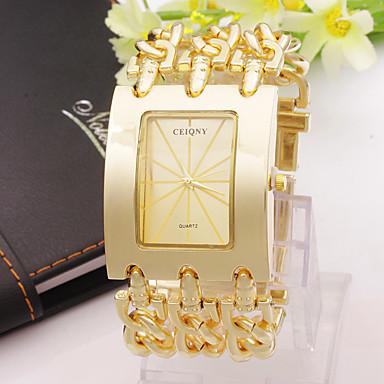 Erkek Moda Saat Quartz Alaşım Bant Gümüş Altın Rengi Altın Gümüş Gül Altın