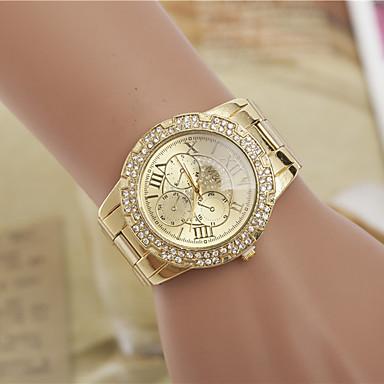Mulheres Relógio de Moda Simulado Diamante Relógio imitação de diamante suíço Designer Lega Banda Elegantes Prata Dourada