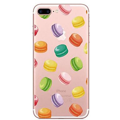 Kılıf Na Apple iPhone 7 Plus iPhone 7 Przezroczyste Wzór Czarne etui Jedzenie Miękkie TPU na iPhone 7 Plus iPhone 7 iPhone 6s Plus iPhone