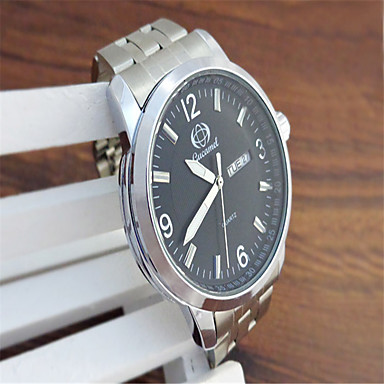 Bărbați Quartz Ceas de Mână cald Vânzare Aliaj Bandă Casual Modă Argint