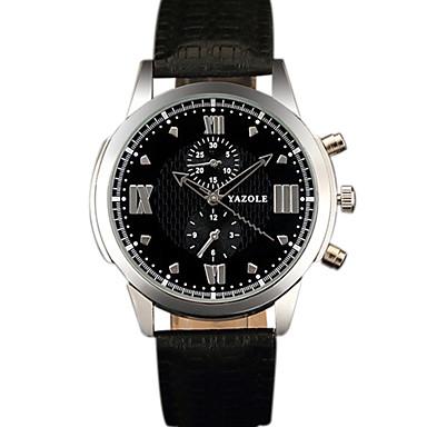 YAZOLE Bărbați Ceas Elegant Ceas La Modă Ceas de Mână Ceas Casual Chineză Quartz PU Bandă Cool Casual Creative Negru Maro Negru Maro