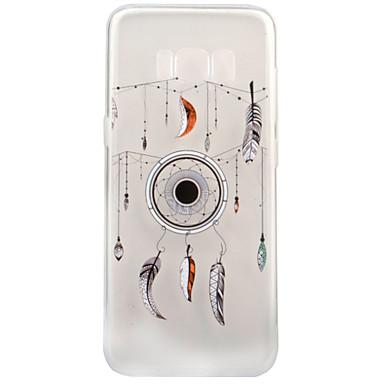Pouzdro Uyumluluk Samsung Galaxy S8 Plus S8 Şeffaf Temalı Arka Kılıf Düşkapanı Yumuşak TPU için S8 S8 Plus