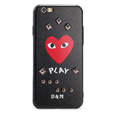 Pouzdro Uyumluluk iPhone 7 Plus iPhone 7 iPhone 6s Plus iPhone 6 Plus iPhone 6s iPhone 6 Apple Temalı Kendin-Yap Arka Kapak Kalp Karton