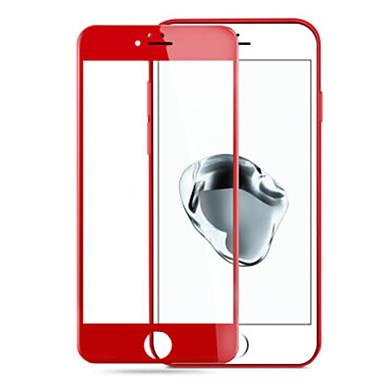 parmak izlerine karşı elma iphone7 artı 3d kırmızı temperli cam ekranı çelik patlamaya dayanıklı membran için