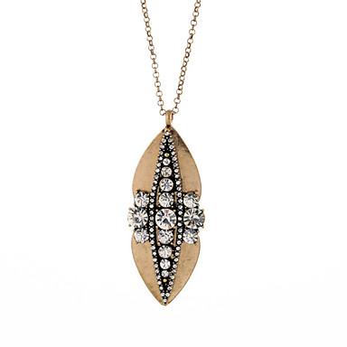 Damskie Oświadczenie Naszyjniki Kryształ Leaf Shape Modny Osobiste White Biżuteria Na Ślub 1szt
