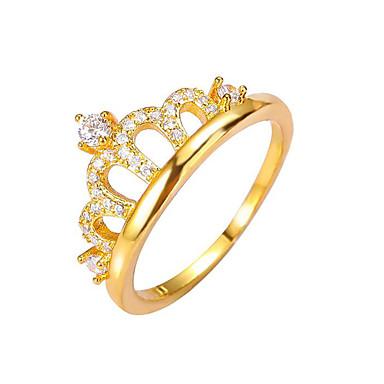 Naisten Nauhasormukset Sormus Vintage Tekojalokivi Muoti Kupari Crown Shape Korut Häät Party Kihlaus Lahja mielitietty