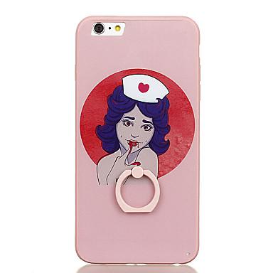 Için Yüzüklü Tutacak Temalı Pouzdro Arka Kılıf Pouzdro Seksi Kadın Sert PC için Apple iPhone 6s Plus iPhone 6 Plus iPhone 6s iphone 6