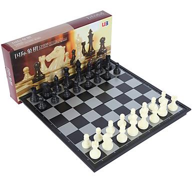 ألعاب الطاولة لعبة الشطرنج شطرنج ألعاب مغناطيس كبير جداً مربع بلاستيك معدن قطع للجنسين هدية