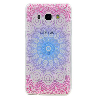 Maska Pentru Samsung Galaxy J7 Prime J5 Prime Transparent Model Carcasă Spate dantelă de imprimare Moale TPU pentru J7 Prime J5 (2016) J5