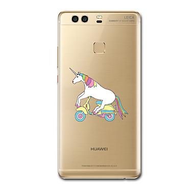 Varten Ultraohut Kuvio Etui Takakuori Etui Yksisarvinen Pehmeä TPU varten HuaweiHuawei P9 Huawei P9 Lite Huawei P9 Plus Huawei P8 Huawei