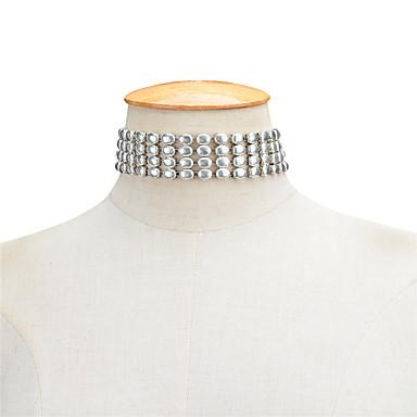Damskie Geometric Shape Spersonalizowane Geometrické Podstawowy euroamerykańskiej Modny Naszyjniki choker Biżuteria Stop Naszyjniki choker