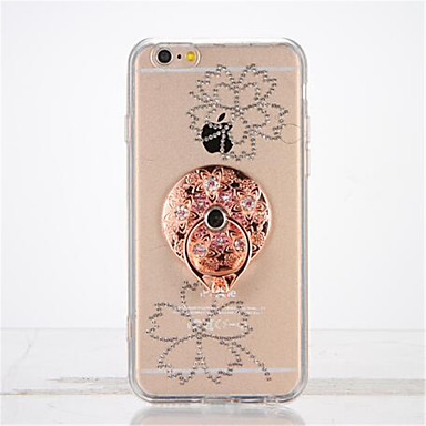 Varten Paljetti Sormuksen pidike DIY Etui Takakuori Etui Kukka Pehmeä TPU varten Apple iPhone 7