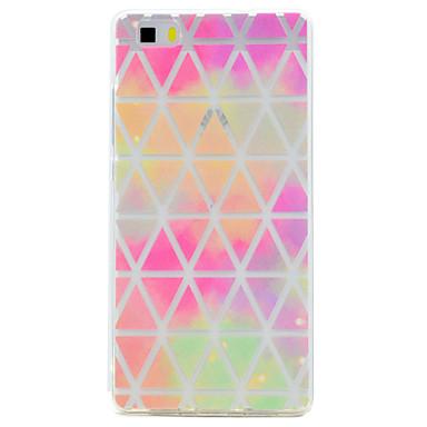 voordelige Huawei Y-serie hoesjes / covers-hoesje Voor Huawei / Huawei P8 Lite P10 Plus / P10 / P8 Lite (2017) Transparant / Patroon Achterkant Geometrisch patroon Zacht TPU
