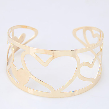 Kadın's Halhallar alaşım Moda Heart Shape Altın Gümüş Mücevher 1pc