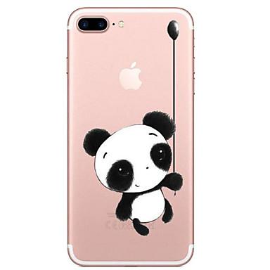 Etui Käyttötarkoitus Apple iPhone 7 Plus iPhone 7 Läpinäkyvä Kuvio Takakuori Panda Piirretty Pehmeä TPU varten iPhone 7 Plus iPhone 7