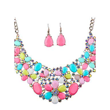 Dame Seturi de bijuterii Ștras Lux Modă Euramerican Nuntă Petrecere Zilnic Casual Diamante Artificiale Aliaj Altele Σκουλαρίκια Coliere