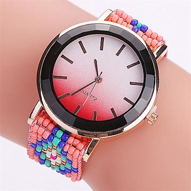 pentru Doamne Ceas La Modă Ceas de Mână Quartz Material Bandă Cool Casual Creative Negru Roșu Maro Negru Maro Rosu