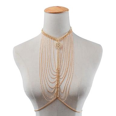نساء مجوهرات الجسم  سلسلة الجسم / سلسلة البطن موضة سبيكة Geometric Shape مجوهرات من أجل حزب مناسبة خاصة فضفاض