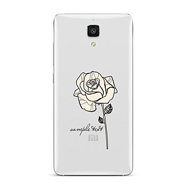 Για Διαφανής Με σχέδια tok Πίσω Κάλυμμα tok Λουλούδι Μαλακή TPU για XiaomiXiaomi Mi 5 Xiaomi Mi 4 Xiaomi Mi 5s Xiaomi Mi 5s Plus Xiaomi