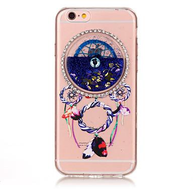 Pentru Stras Scurgere Lichid Embosat Model Maska Carcasă Spate Maska Prinzător de vise Moale TPU pentru AppleiPhone 7 Plus iPhone 7