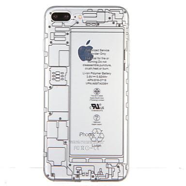 Kılıf Na Apple iPhone 7 Plus iPhone 7 Przezroczyste Wzór Czarne etui Napis Miękkie TPU na iPhone 7 Plus iPhone 7 iPhone 6s Plus iPhone 6s