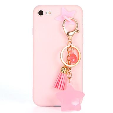 Pouzdro Uyumluluk Apple iPhone 7 Plus iPhone 7 Kendin-Yap Arka Kapak Tek Renk Yumuşak TPU için iPhone 7 Plus iPhone 7 iPhone 6s Plus