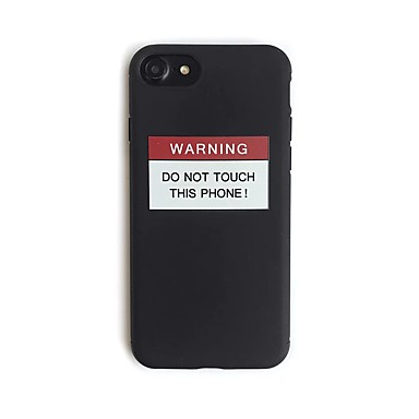 Kılıf Na Apple iPhone 7 Plus iPhone 7 Wzór Czarne etui Napis Miękkie TPU na iPhone 7 Plus iPhone 7 iPhone 6s Plus iPhone 6s iPhone 6 Plus