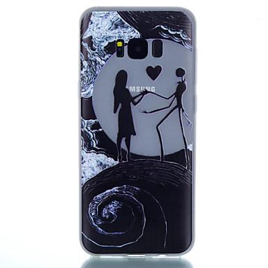 Pouzdro Uyumluluk Samsung Galaxy S8 Plus S8 Karanlıkta Parlayan Buzlu Yarı Saydam Temalı Arka Kapak Kalp Yumuşak TPU için S8 Plus S8 S7