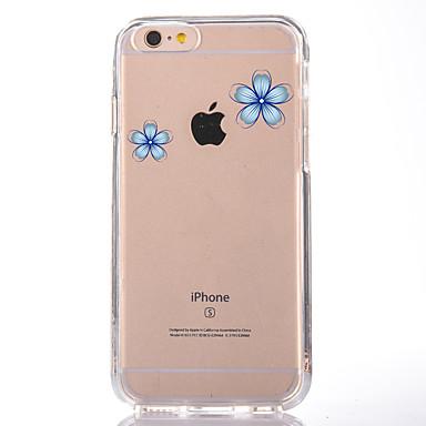 Kılıf Na Apple iPhone 7 Plus iPhone 7 Przezroczyste Wzór Czarne etui Kwiaty Miękkie TPU na iPhone 7 Plus iPhone 7 iPhone 6s Plus iPhone