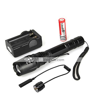 5 LED Fenerler LED 1000 lm 5 Kip LED Pil ve Şarj Aleti ile Zoomable Su Geçirmez Çok Fonksiyonlu