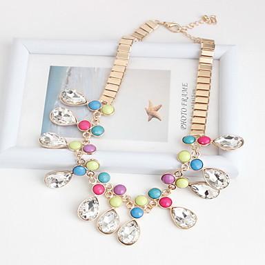 Kadın's Uçlu Kolyeler Mücevher Mücevher Değerli Taş Reçine alaşım Doğa Kişiselleştirilmiş Euramerican Gökküşağı Mücevher Için Parti Günlük