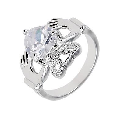 Γυναικεία Βέρες Μοναδικό Λογότυπο Πανκ Στυλ Χιπ-Χοπ Διπλής όψης Euramerican κοσμήματα πολυτελείας Συνθετικοί πολύτιμοι λίθοι Ζιρκονίτης