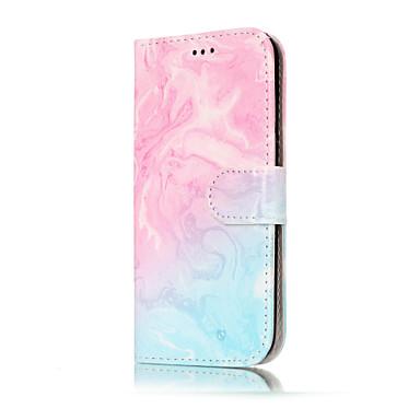 Maska Pentru Samsung Galaxy A5(2017) A3(2017) Portofel Titluar Card Cu Stand Întoarce Model Corp Plin Marmură Greu PU Piele pentru A3