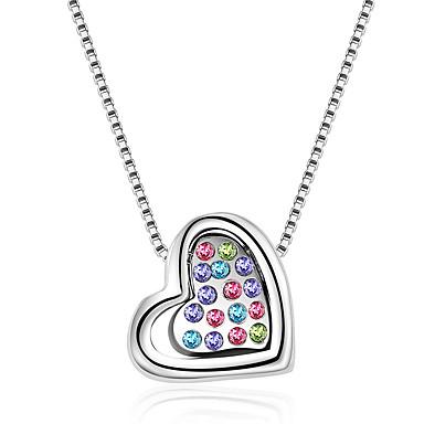 Damskie Naszyjniki z wisiorkami Kryształ Miłość Serce Modny Osobiste euroamerykańskiej Biżuteria Na Ślub Impreza