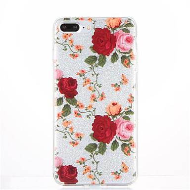 إلى نموذج غطاء غطاء خلفي غطاء زهور ناعم TPU إلى Apple فون 7 زائد فون 7