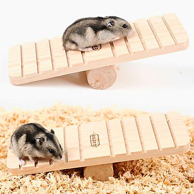 Kürklüler Hamster Tahta Portatif Egzersiz Tekerlekleri