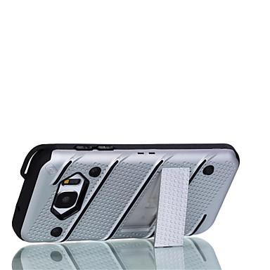 Pouzdro Uyumluluk Samsung Galaxy S7 edge S7 Şoka Dayanıklı Satandlı Arka Kılıf Tek Renk Sert PC için S7 edge S7