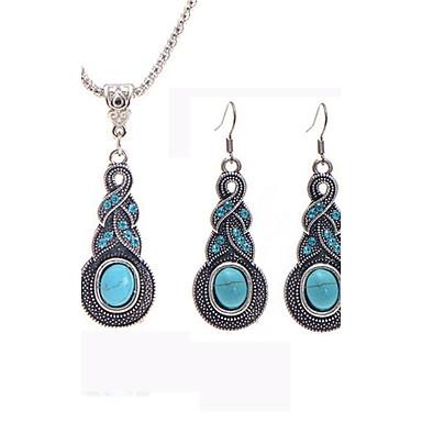 ieftine Seturi de Bijuterii-Pentru femei Turcoaz Seturi de bijuterii Artizan Design Unic Elizabeth Locke cercei Bijuterii Albastru Pentru Nuntă Petrecere Ocazie specială Zilnic Casual